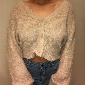Cropped Knit Sweater 🌟